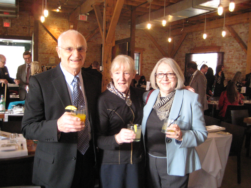 Guy Thompson, Susan Kyle and Audrey Armstrong representing TVA at the June Callwood award presentation